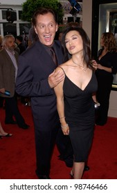 Actor JAMES WOODS & actress MING-NA WEN at the world premiere, in Los Angeles, of their new movie Final Fantasy: The Spirits Within. 02JUL2001.  Paul Smith/Featureflash