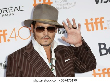 Actor Johnny Depp attends 'The Danish Girl' premiere during the 2015 Toronto International Film Festival held at the Princess of Wales Theatre on September 12, 2015 in Toronto, Canada.