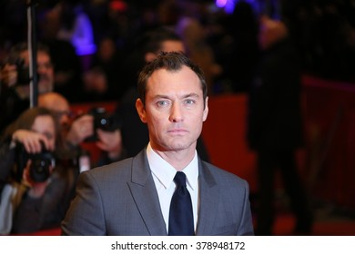 Actor Jude Law attends the 'Genius' premiere during the 66th Berlinale International Film Festival Berlin at Berlinale Palace on February 16, 2016 in Berlin, Germany.