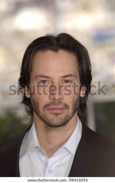 Actor KEANU REEVES at the photocall in Cannes for his new movie The Matrix Reloaded which is showing out-of-competition at the Cannes Film Festival.