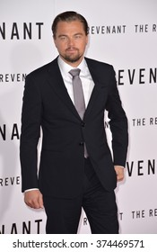 """Actor Leonardo DiCaprio at the Los Angeles premiere of his movie """"The Revenant"""" at the TCL Chinese Theatre, Hollywood. December 16, 2015  Los Angeles, CAPicture: Paul Smith / Featureflash"""