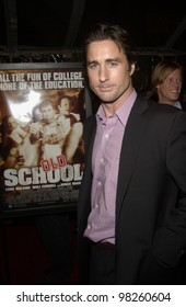 Actor LUKE WILSON at the world premiere, in Hollywood, of his new movie Old School. 13FEB2003.   Paul Smith / Featureflash