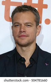 Actor Matt Damon attends the 'The Martian' premiere during the 2015 Toronto International Film Festival at Roy Thomson Hall on September 11, 2015 in Toronto, Canada.