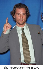 Actor MATTHEW McCONAUGHEY at the 2006 People's Choice Awards in Los Angeles. January 10, 2006  Los Angeles, CA  2006 Paul Smith / Featureflash