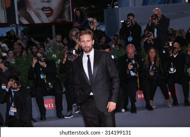 Actor Matthias Schoenaerts  attends a premiere for 'A Danish Girl' during the 72nd Venice Film Festival at on September 5, 2015 in Venice, Italy.