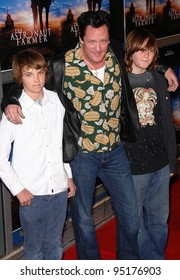 Actor Michael Madsen poses for the cameras with his two sons on the red carpet for the world premiere of The Astronaut Farmer.  February 20, 2007  Los Angeles, CA Picture: Paul Smith / Featureflash