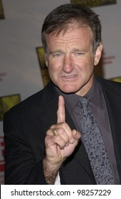 Actor ROBIN WILLIAMS at the Broadcast Film Critics 8th Annual Critics' Choice Awards at the Beverly Hills Hotel. 17JAN2003.   Paul Smith / Featureflash