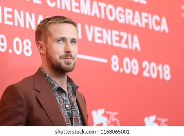 Actor Ryan Gosling attends 'First Man' photocall during the 75th Venice Film Festival at Sala Casino on August 29, 2018 in Venice, Italy.