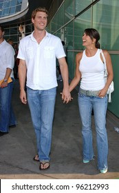Actor RYAN McPARTLIN & wife at the US premiere of Must Love Dogs, at the Cinerama Dome, Hollywood. July 21, 2005  Los Angeles, CA  2005 Paul Smith / Featureflash