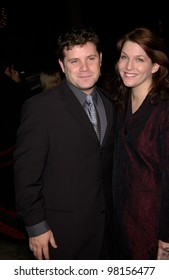 Actor SEAN ASTIN & wife at the Los Angeles premiere of his new movie The Lord of the Rings: The Fellowship of the Ring. 16DEC2001  Paul Smith/Featureflash