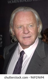 Actor SIR ANTHONY HOPKINS at the Premiere magazine 11th Annual Women in Hollywood Luncheon at the Four Seasons Hotel, Beverly Hills. September 14, 2004