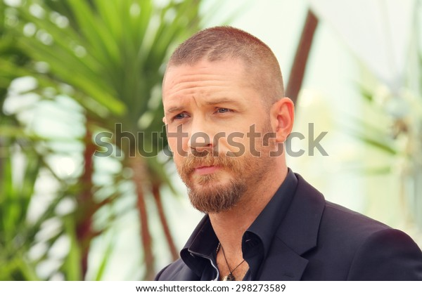 Actor Tom Hardy attends the 'Mad Max : Fury Road' Photocall during the 68th annual Cannes Film Festival on May 14, 2015 in Cannes, France.