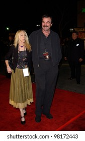 Actor TOM SELLECK & wife at the world premiere, in Los Angeles,  of We Were Soldiers. 25FEB2002.  Paul Smith/Featureflash