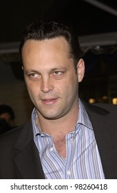 Actor VINCE VAUGHN at the world premiere, in Hollywood, of his new movie Old School. 13FEB2003.   Paul Smith / Featureflash