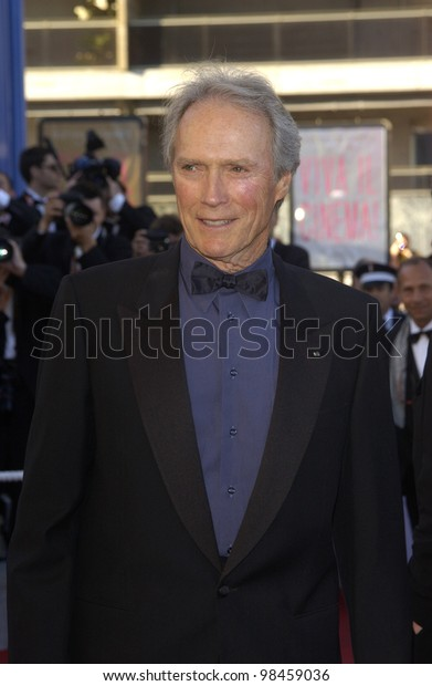 Actor/director CLINT EASTWOOD at the screening at the Cannes Film Festival for his new movie Mystic River. 23MAY2003