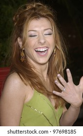 Actress ALYSON HANNIGAN at the world premiere of her new movie American Wedding, at Universal Studios, Hollywood. July 24, 2003  Paul Smith / Featureflash