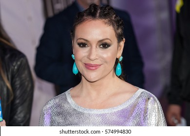 Actress Alyssa Milano attends the 26th annual Taste of the NFL Party with a Purpose at the University of Houston on February 4th 2016 - USA