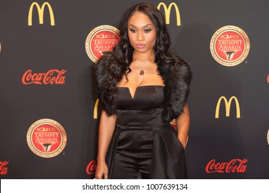 Actress Angell Conwell arrives on the Red Carpet for the 26th annual Bounce Trumpet Awards on January 20th 2018 at the Cobb Energy Performing Arts Centre in Atlanta Georgia-USA
