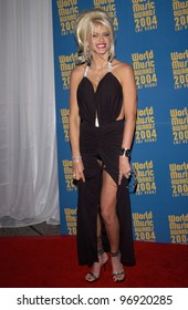 Actress ANNA NICOLE SMITH at the 16th Annual World Music Awards at the Thomas and Mack Centre, Las Vegas. September15, 2004