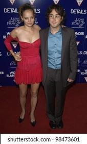 Actress BIJOU PHILLIPS & boyfriend singer SEAN LENNON at the Los Angeles premiere of Wonderland. Sept 24, 2003  Paul Smith / Featureflash