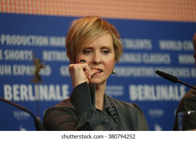 Actress Cynthia Nixon attends the 'A Quiet Passion' press conference during the 66th Berlinale  Film Festival Berlin at Grand Hyatt Hotel on February 14, 2016 in Berlin, Germany.
