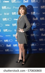 Actress Dakota Johnson attends the 'Black Mass' premiere during the 2015 Toronto International Film Festival at The Elgin on September 14, 2015 in Toronto, Canada.