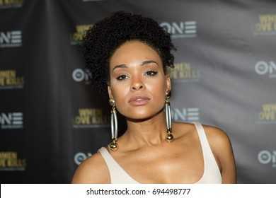 """Actress Demetria McKinney attends the TV One Premiere of """" WHEN LOVE KILLS """" on Wednesday, August 9, 2017 at the Regal Atlantic Station in  Atlanta, Georgia - USA"""