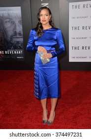 """Actress Grace Dove at the Los Angeles premiere of her movie """"The Revenant"""" at the TCL Chinese Theatre, Hollywood. December 16, 2015  Los Angeles, CAPicture: Paul Smith / Featureflash"""