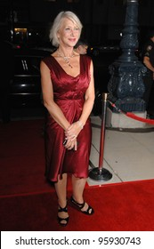 "Actress HELEN MIRREN at the Los Angeles premiere of her new movie ""The Queen"". October 3, 2006  Los Angeles, CA Picture: Paul Smith / Featureflash"