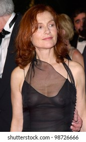 Actress ISABELLE HUPPERT at the Cannes Film Festival for the premiere of her new movie The Pianist. 14MAY2001.   Paul Smith/Featureflash