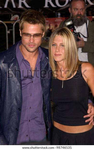 Actress Jennifer Aniston Actor Husband Brad Stock Photo