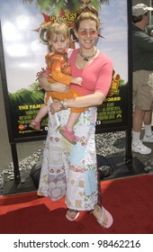 Actress JOELY FISHER & daughter at the Los Angeles premiere of Rugrats Go Wild. June 1, 2003