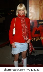 Actress JOY DURHAM at the Los Angeles premiere of 21 Grams. November 6, 2003  Paul Smith / Featureflash