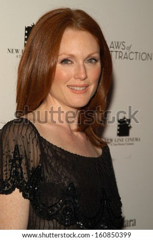Actress Julianne Moore Attends World Premiere Stock Photo