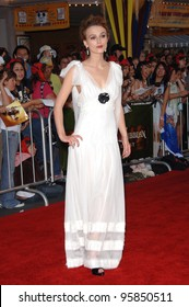 """Actress KEIRA KNIGHTLEY at the world premiere of her new movie """"Pirates of the Caribbean: Dead Man's Chest"""" at Disneyland, CA. June 24, 2006  Anaheim, CA  2006 Paul Smith / Featureflash"""