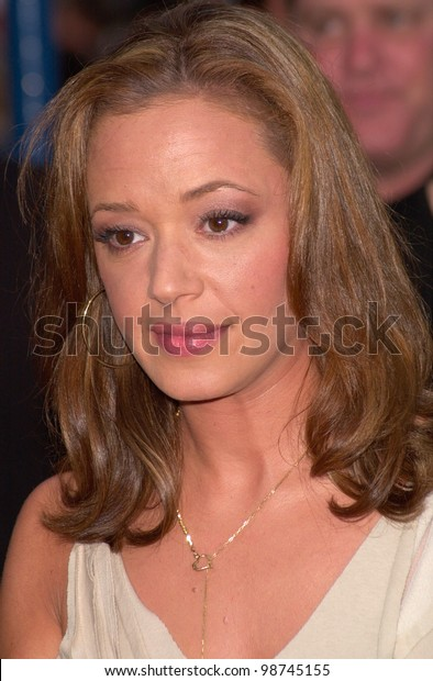 Actress LEAH REMINI at the Los Angeles premiere of Swordfish. 04JUN2001.   Paul Smith/Featureflash