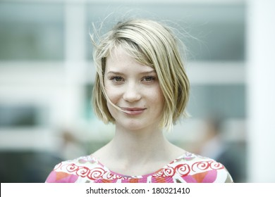 Actress Mia Wasikowska attends the 'Lawless' Photocall during the 65th Annual Cannes Film Festival at Palais des Festivals on May 19, 2012 in Cannes, France.