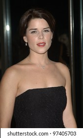 Actress NEVE CAMPBELL at the 2003 Hollywood Awards at the Beverly Hills Hilton. Oct 20, 2003  Paul Smith / Featureflash