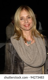 Actress ROSANNA ARQUETTE at booklaunch and 60th birthday party for former Rolling Stones bass player Bill Wyman, at Bar Marmont in West Hollywood. 24OCT2002   Paul Smith / Featureflash