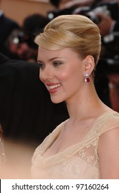 Actress SCARLETT JOHANSSON at the screening of Woody Allen's Match Point at the 58th Annual Film Festival de Cannes. May 12, 2005 Cannes, France.  2005 Paul Smith / Featureflash