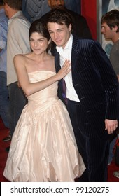 Actress SELMA BLAIR & actor RUPERT EVANS at the Los Angeles premiere of their new movie Hellboy. March 30, 2004