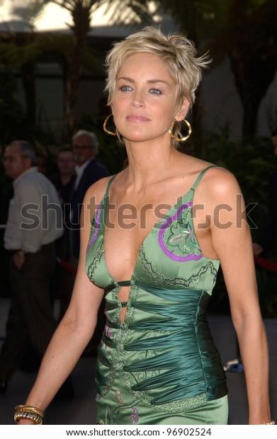 Actress Sharon Stone World Premiere Hollywood Stock Photo