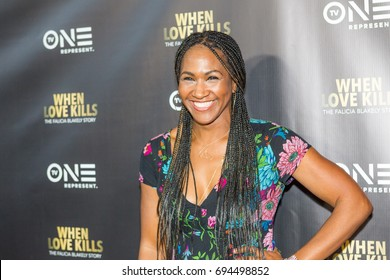 """Actress TERRI J. VAUGHN    attends the TV One Premiere of """" WHEN LOVE KILLS """" on Wednesday, August 9, 2017 at the Regal Atlantic Station in  Atlanta, Georgia - USA"""