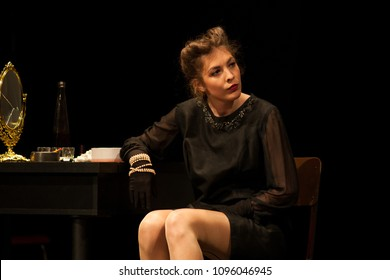 actress at theater play