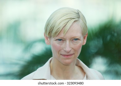 Actress Tilda Swinton attends the 'We Need To Talk About Kevin' photocall during the 64th Annual Cannes Film Festival at the Palais des Festivals on May 12, 2011 in Cannes, France.