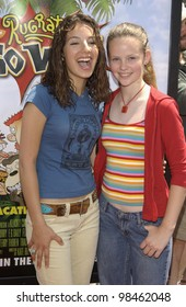 Actress VANESSA LENGIES (left) & sister SARAH at the Los Angeles premiere of Rugrats Go Wild. June 1, 2003