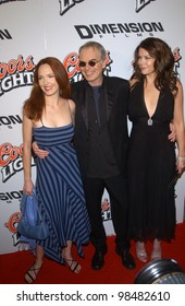 Actresses AMY YASBECK (left) & LAUREN GRAHAM & actor BILLY BOB THORNTON at the Los Angeles premiere of their new movie Bad Santa. November 18, 2003  Paul Smith / Featureflash