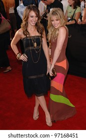 Actresses HILARY & HAYLIE DUFF at the 2005 MTV Movie Awards at the Shrine Auditorium. June 4, 2005. Los Angeles, CA  2005 Paul Smith / Featureflash