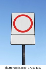 Actual white reflective street sign blank for copy space