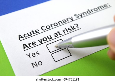 Acute coronary syndrome : are you at risk?
